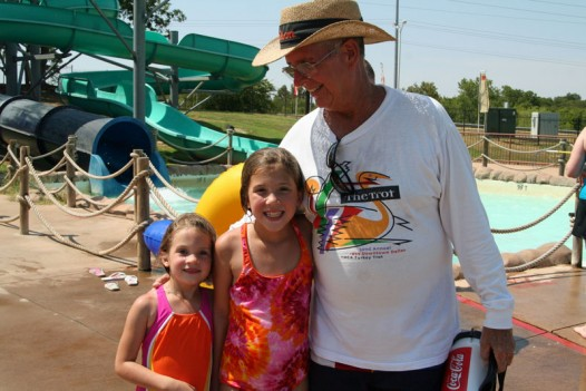 With his granddaughters